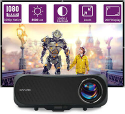 Caiwei 8500lumens Native 1080p Projector 4k Led Video Home Cinema Zoom Hdmi Us
