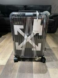 Rimowa Off-white Carry On Bag Case Suitcase Black Clear Travel Business Men Rare