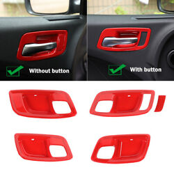 Interior Door Handle Bowl Trim Cover For Dodge Charger 2011-2021 Red Accessories