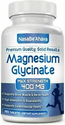 Magnesium Glycinate 400 Mg 180 Capsules For Improve Sleep And Stress Relieve