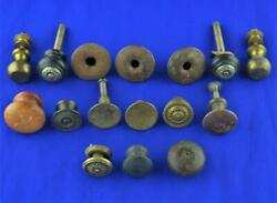 16 Antique Vintage Drawer Cabinet Pulls Knobs - Lot Of 16 Mixed Cabinet Pulls