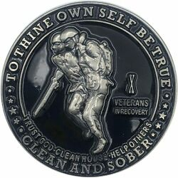 10 Year Veterans In Recovery Aa/na Sober Medallion - 40mm Fancy Coin/chip