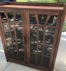 Rare Signed Stickley Cherry Gamble House Mission 2 Door Bookcase Arts And Craft