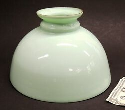Antique Mint-green Milk Glass Oil Lamp Shade Jadeite Hanging Light Or Table 12