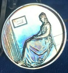 1972 Whistlerand039s Mother By Hamilton Mint Mothers Day 1.25 Ounce .999 Silver
