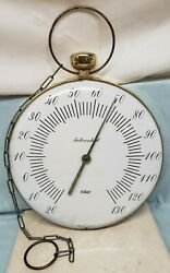 Vintage Ohio Thermometer Fahrenheit 12 Jumbo Glass Dial Hang Pocket Watch Style