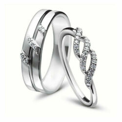0.17 Ct Real Diamond Valentine Couple Band Solid 950 Platinum All Size Available