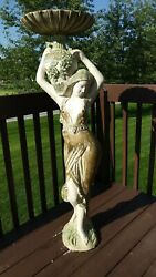 Vintage Grecian Greek Risque Art Chalkware Large 51 Statue Made In Mexico