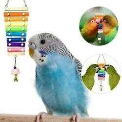 Suspensible Wood Xylophone Toys Chicken Coop Pecking Toy With Grinding Stone Hot
