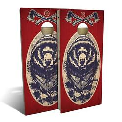 Red White Bear Cornhole Boards - The Perfect Christmas Gift