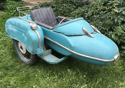 Retro 60s Original Izh Motocycle Sidecar With Frame And Wheel