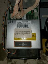 Antminer S9 W/power Supply And Power Cord - Used Tested Full Hash Rate