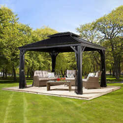 Shelterlogic Messina Galvanized Steel Roof Sun Shelter Contact Us For Shipping