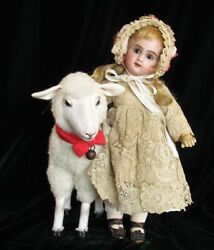 13.5 Antique French Doll Bebe Jumeau Cabinet Size 3