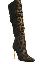 Tom Ford Leopard Boots Shoes - Brand New - Rrp4600 Aud