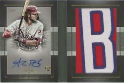 Mlb 2021 Alec Bohm Topps Luminaries Autographed Letter Patch Book Card 1/1