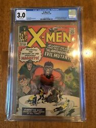 X-men 4 1964 Cgc 3.0 O/w. 1st Scarlet Witch And Quicksilver 2nd Magneto