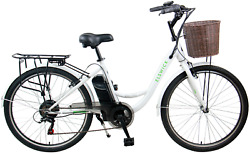 Elswick 26 Inch Traditional Style Electric Bike White