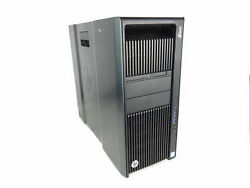 Hp Z840 2p Workstation 2x Qc 3.0ghz 128gb Pick Sas Hard Drive And Video Card 3a