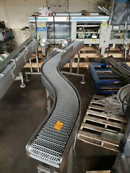 Stainless Steel 8 X 10' Washdown Conveyor With Plastic Belt 120v
