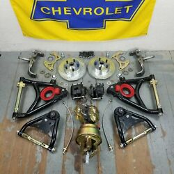 1958-64 Chevy Full Size Big Brake + Control Arms + Booster Conversion Kit 5x4.75
