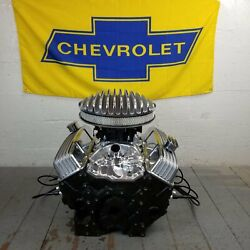 Sb Chevy 14 Air Cleaner Tall Valve Covers Engine Dress Up Kit Breathers 283-350