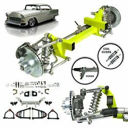 55-57 Chevy Bel Air Power Steering Performance Ifs Kit 450lb Coilover 2 Drop Gm