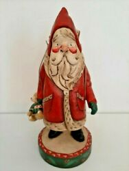 Denise Calla House Of Hatten 16 Large Santa Claus With Goose And Teddy Bear