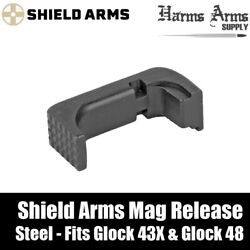 Shield Arms Magazine Release/catch For Glock 43x And 48 - Steel - Use With S15 Mag