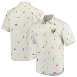 New Orleans Saints Tommy Bahama White Beach-cation Throwback Shirt - M