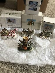 Charming Tails Figurines Fitz And Floyd Dean Griff Fall And Christmas Lot