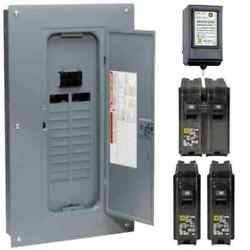 100 Amp 20-space 40-circuit Indoor Main Breaker Plug-on Neutral Load Center