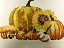 NEW Pottery Barn Pumpkin Harvest Embroidered Fall Autumn Pillow Cover 20quot; NWT