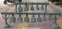 Ancient Chinese Folk Classical Bronze Musical Instruments Chimes Set Statue