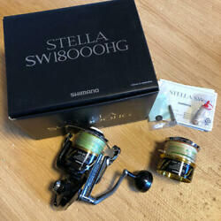 Shimano 13 Stella Sw18000hg + 20000 Spool Excellent Used Free Shipping Insurance