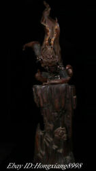 35old Chinese Marked Colour Porcelain Monkey King Sun Wukong Statue