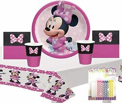 Minnie Mouse Forever Party Supplies Pack Serves 16 9' Plates Luncheon Napkins C