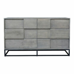Moe's Home Contemporary Felix 6 Drawer Dresser With Grey Finish Bv-1007-15