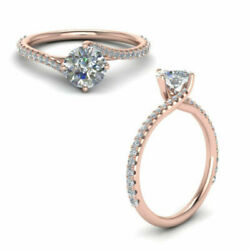 0.83 Ct Natural Diamond Anniversary Rings Solid 14k Rose Gold Ring Size 5 6 7 8