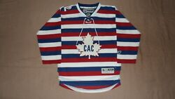 Montreal Canadiens Barber Centennial Reebok Youth Size S/m Nhl Hockey Jersey