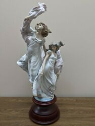 Allegory Of Liberty 5819 -josandeacute Puche Lladro Autographed W/ Stand Box Freeship