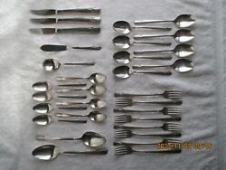 Wm Rogers And Son Silverware Is 31 Pieces Vintage Used