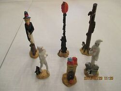Collectibles Holiday Halloween 6 Figurines Mummie Witch Black Cat Ghost Monster