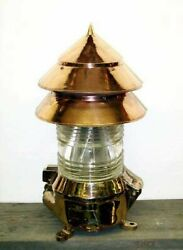 Antique Bouy Light Ww2 Navy, Nauticle Light For Inside Or Outside. Polished.