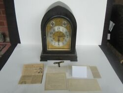 Antique Seth Thomas Chime Beehive Model 72 Fancy Dial Cabinet Clock Works