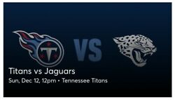 Tennessee Titans Vs Jacksonville Jaguars-up To 6 Tickets Ll Visitor Side Tunnel