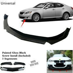 Universal Front Bumper Spoiler Lip Body Kits Fit For Lexus Is250 Is300 Is350