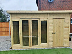 Summer House With Shed Heavy Duty Contemporary Delivery Lead Time 8-14 Weeks