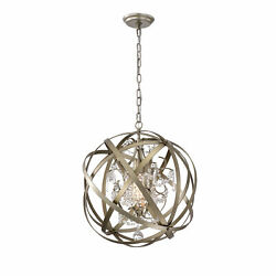 Warehouse Of 1-light Crystal Orb Cage Chandelier Hm234/1sg