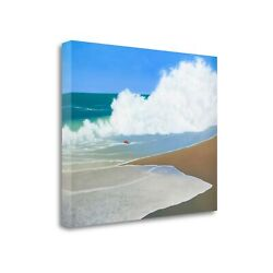 Tangletown Red Pail In The Sand By Martha Pettigrew Wall Art Icp889d-3226c
